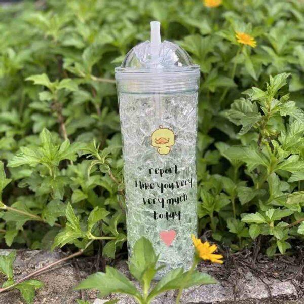 Frosty bottle green