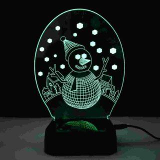 Snowman Led Lamp