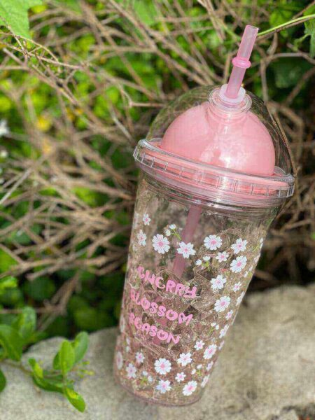 Cute Pink Rabbit Ice Cup