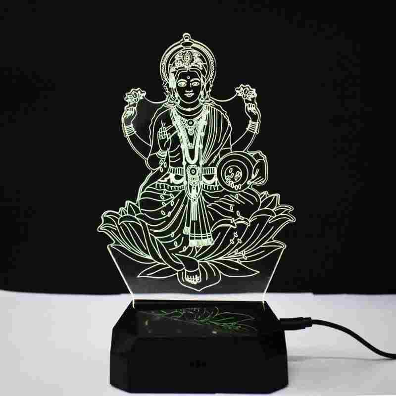 Laxmi 3D Illusion Night Lamp