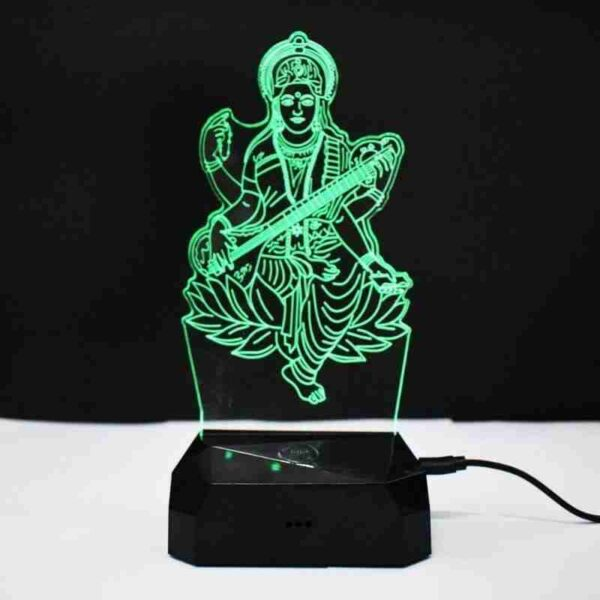 Saraswati 3D Illusion Night Lamp
