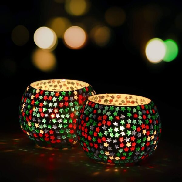 Star Mosaic Candle Holder
