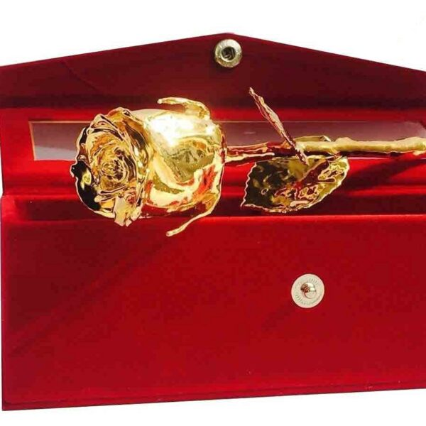 Gold Plated Rose with Velvet Box